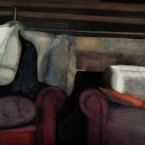 Rincón de un tapicero y sofás